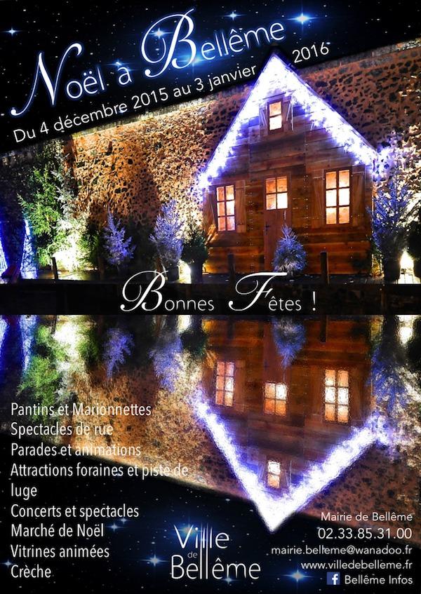 Programme de Noël 2015 à Bellême